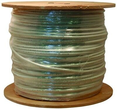 Coaxial Cable 1000 ft. White RG6 18 AWG Flame Retardant and UV Resistant New