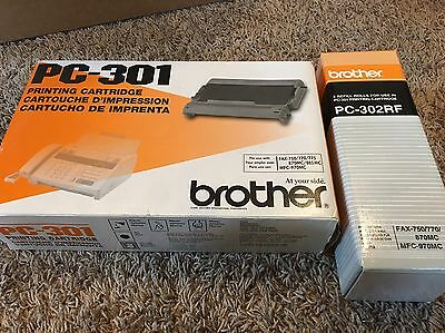 (ONE) Genuine OEM Brother PC-302RF AND ONE Refill Roll PC-301 Cartridge Fax
