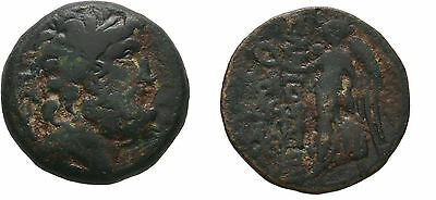 Ancient Greece 150-50 BC CILICIA ELAIOUSA-SEBASTE NIKE ZEUS WREATH Æ