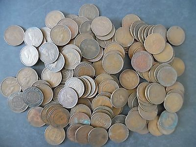 Lot of 150 Australia Large Penny Coins 1910s - 1930s