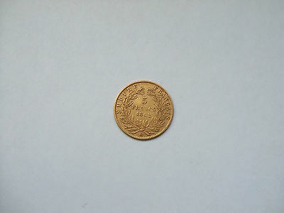 France 5 Francs Or 1862 BB Strasbourg Napoleon III French Gold Coin