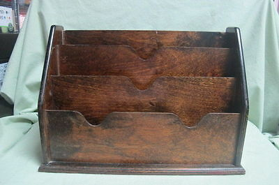 Antique Haxyes British Wooden Desk Top File
