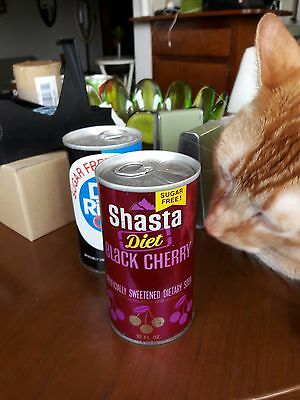 70s 71 72 Diet Shasta Black Cherry Unopened Air Sealed Pull Tab Soda Can Empty