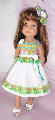 Hand Made : 2 Piece Outfit : Compatible With Gotz Hannah: Or Similar 18 Ins Doll