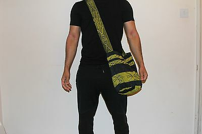 UNISEX traditional Colombian Mochila - navy blue and yellow designs