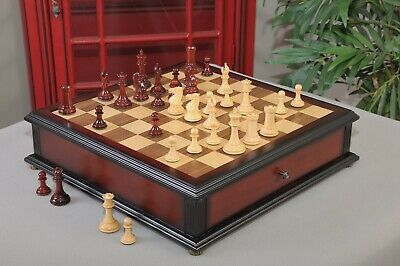 "The Collector Series Library Chess set, Box, & Board Combination - 3.0"" King - B"