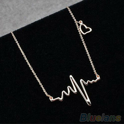 Collier Argenté battement de coeur - necklace heartbeat