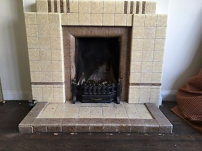 1930s tiled vintage fireplace 'free' for collection