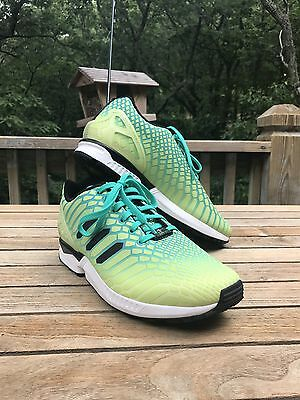 timeless design 72a7b fb6ff NEW ADIDAS TORSION ZX Flux Xeno Green/Yellow Size 10 1/2