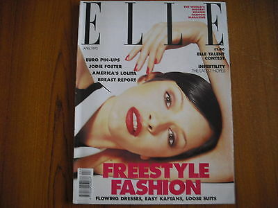 Elle Magazine - April 1993 - Jodie Foster, Polly Jean Harvey