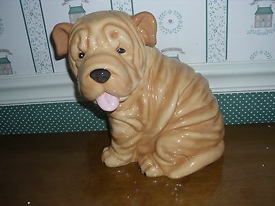 Westland Shar Pei Puppy-Cookie Jar-Mib