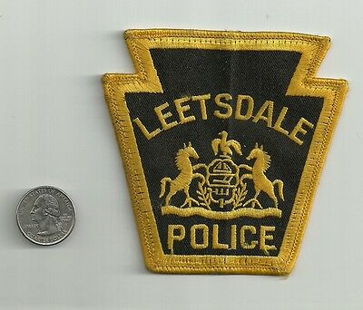Leetsdale Police Department Keystone patch, Leetsdale Pennsylvania, Used