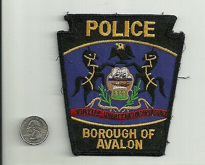 Avalon Police Department patch, Avalon Borough, Pennsylvania, Used