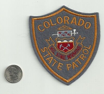 Colorado State Police Patch, New