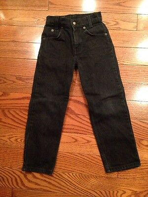 Levi Strauss & Co 550 Youth Black Denim Jeans Size 7