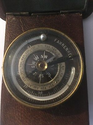 Gold Prospectors Pocket Compass Barometer Thermometer Calif.s.f. Henry Kahn Co.