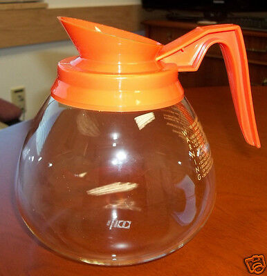 12-Cup Commercial Coffee Carafe/Decanter/Pot for BUNN Brewers, Decaf (Orange)
