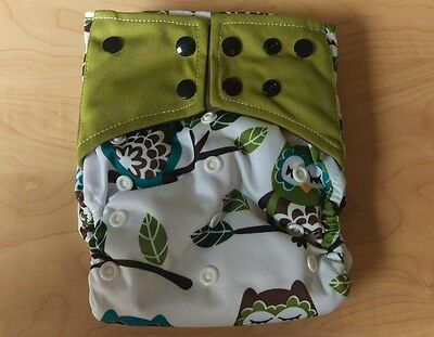 NEW Owl Tree All In One AIO Pocket Cloth Diaper Charcoal Insert Unbranded