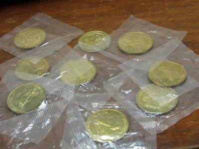 Sunoco Oil Gas Advertising Coin Medal Lot 9 total 1999  (17G1)