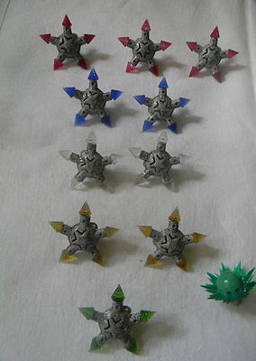 Vintage Kristal Star Christmas Lights w Colored Points Lot of 10 & 1 Matchless