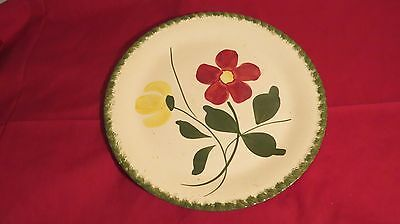 """Blue Ridge Southern Potteries Red/Yellow Daisies 9 1/4"""" Plate"""