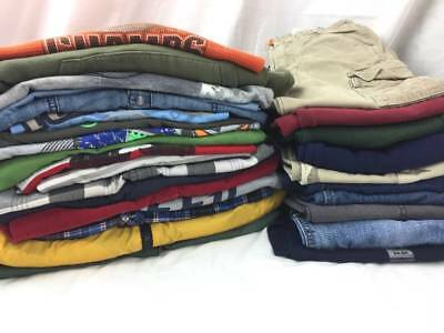 HUGE Lot Boys School Clothes 5/6 Fall Winter Jeans Pants Shirts Jackets Outfits