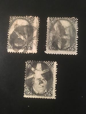 U s stamps old used #73 mix of 3 CV$195