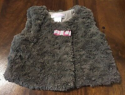 Janie and Jack Vest Size 6-12months Gray