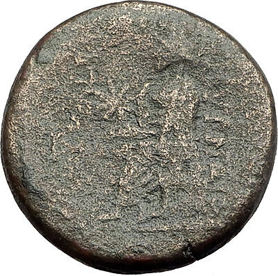 SMYRNA in IONIA - Poet Homer of Odyssey on Authentic Ancient Greek Coin i62832