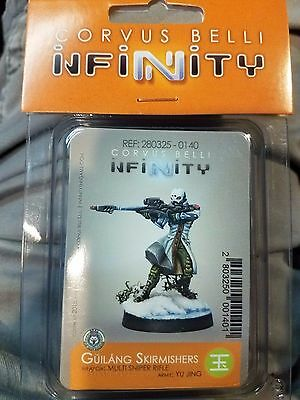 Corvus Belli Infinity Guilang Skirmishers Multi Sniper Rifle Yu Jing NEW Sealed