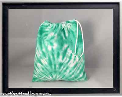 Gymnastics Leotard Grip Bags / Foam Green Tie Dye Gymnast Birthday Goody Bag