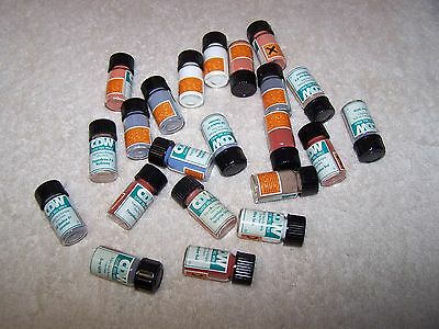 22 Vintage China Doll  Paint Powder Glass Vials From Classic Doll World  Lot#5