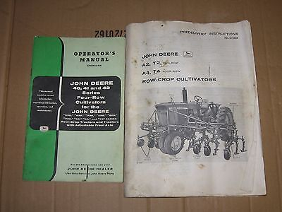 John Deere operators and predelivery cultivator manuals