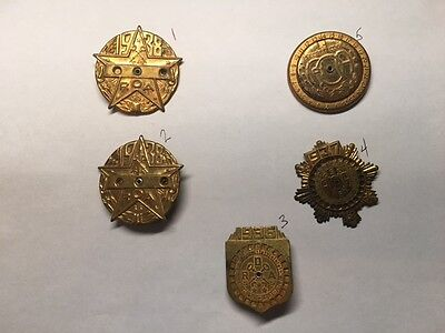 Lot of 5 RADIO ORPHAN ANNIE SECRET DECODERS CEREAL PREMIUM PRIZES 1936 37 38 39