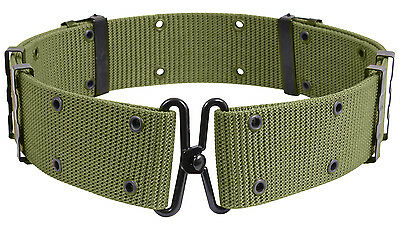 Military Style Pistol Belt Size Large Metal Buckle Olive Drab Rothco 9065