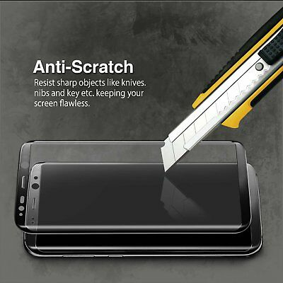 3D Full Coverage Tempered Glass Screen Protector for Galaxy S8 Plus Black Color