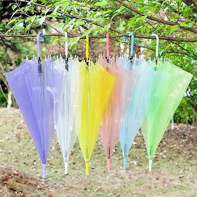 Clear Transparent Rain Umbrella Parasol PVC Dome for Wedding Party Favor Clear
