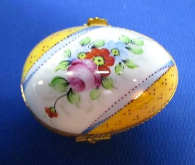 Limoges For Tiffany & Co. Hand-Painted Egg Shaped Ring Box