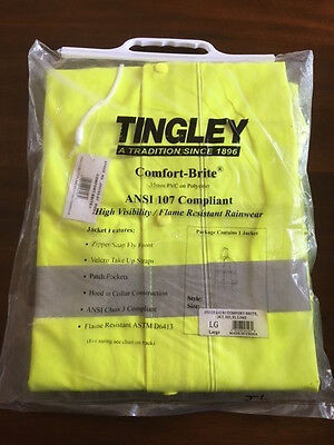 New Tingley Comfort Brite  Flame Resistant Rain Jacket, Size Large