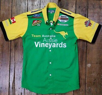 Team Australia Champ Car Racing Aussie Vineyards Pits City Ford Youth Large (B2)