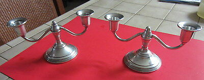 Nice Pair Of Sterling Silver Candlesticks By Preisner