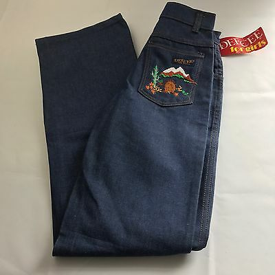 DEE CEE Western girls Washington Cactus Embroidered Jeans Sz Slim 12 VTG NWT