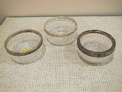 Three Crystal/silver plates, bowls Pressed glass, (one is Leonard -Italy)