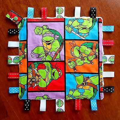 Ninja Turtle Taggie Security Blanket Toy comforter dummy clip holder