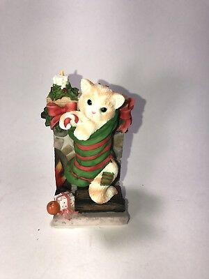 Calico Kittens Stuffing The Stockings 2001 Priscilla Hillman Enesco Cats Holiday