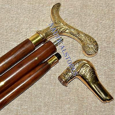 Brass Designer Handle Walking Stick Reproduction Canes unique Handle