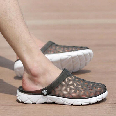 Men Slippers Beach Sandals Male Shoes Summer Drag Shoes Hollow Out Of The