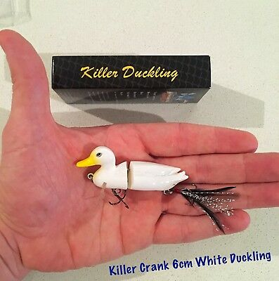 New Killer Crank 6cm White Surface Duck/Duckling Murray Cod/Bass Fishing Lure