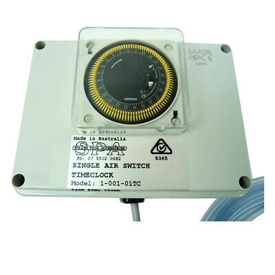 Compu Pool Air Switch Controller 10amp Single Socket with Built in 24hr Timer