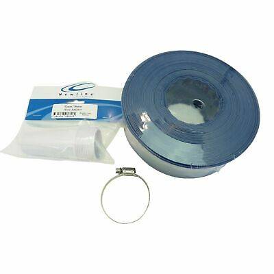 Pool Back Wash Hose & Adapter Kit Swimming Pool Filter Lay Flat Backwash Hose